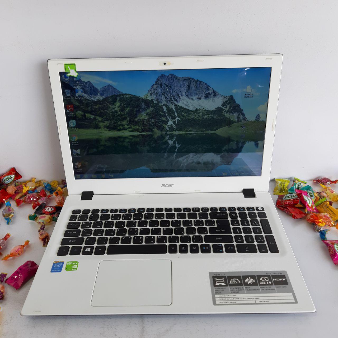 لپ تاپ دست دوم و کارکرده ایسر Acer Aspire E5-573TG